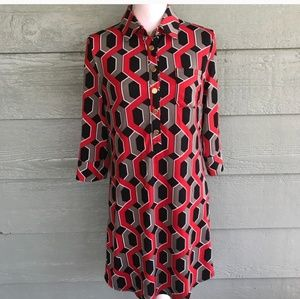 Nwt print shirt dress
